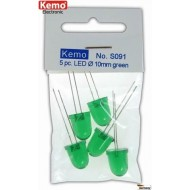 LED Ø 10mm green approx. 5 pieces