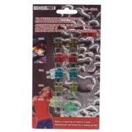 10-PIECE MINI CAR FUSE SET WITH INDICATOR LIGHT (7.5 - 30A)