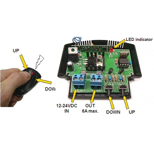 LED DIMMER WITH RF REMOTE CONTROL