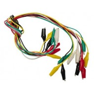 SET WITH 10 WIRES 50cm 5 COLOURS WITH BOOTED CROCODILE CLIPS 25m