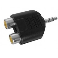 DOUBLE RCA FEMELLE VERS JACK MALE 3.5mm STEREO