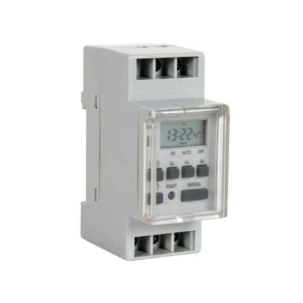 DIGITAL TIMER - DIN RAIL MOUNTING - WEEKLY PROGRAMMABLE