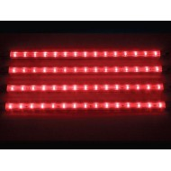 CINTA DECORATIVA CON LEDs - 4 uds. - 12V - COLOR ROJO