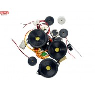 Piezo speakers and microphones, approx. 20 pcs.
