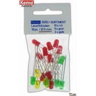 LED's red-green-yellow Ø 5mm, approx. 18 pieces
