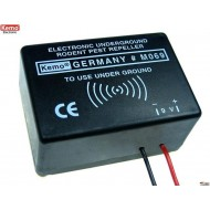 Electronic underground rodent pest repeller