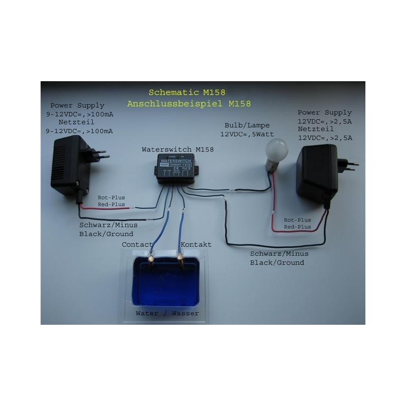 9-12VDC M158 By KEMO ELECTRONIC WATER SWITCH MODULE