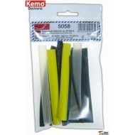 Heat shrink tubes, approx. 15 pcs