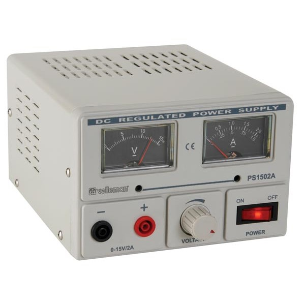 LAB POWER SUPPLY 0-15V / 2A ANALOGUE DISPLAY