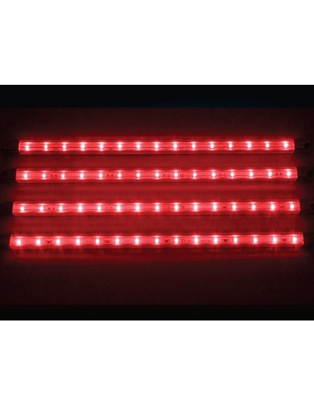 DECORATIVE LED STRIP - 4 pcs - 12V - BLUERED