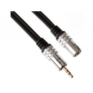 AUDIO CABLE - MALE STEREO JACK 3.5mm TO FEMALE STEREO JACK 3.5mm