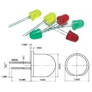 10mm SUPER BRIGHT LED LAMP GREEN DIFFUSED