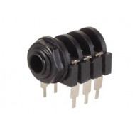 6.35mm FEMALE JACK CONNECTOR - CLOSED CIRCUIT - STEREO
