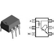 4N33 -OPTO ISOLATOR WITH TRANSISTOR OUTPUT