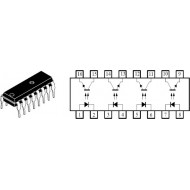 CNY74-4 - MULTICHANNEL OPTO ISOLATOR WITH TRANSISTOR OUTPUT