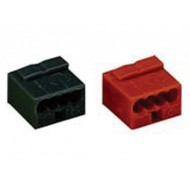 MICRO PUSH-WIRE CONNECTOR FOR JUNCTION BOXES 4-CONDUCTOR TERMINA