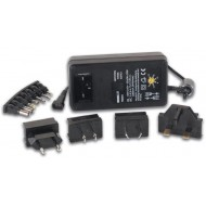 COMPACT SWITCHING POWER SUPPLY 24W WITH SELECTABLE OUTPUT 3 TO 1