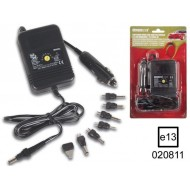 SWITCHING MODE CAR ADAPTER 2000mA REGULATED / 1.5-12V / 12-24Vdc