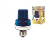 MINI STROBE LAMP BLUE, 3.5W, E27 SOCKET