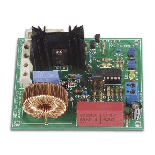 POWER DIMMER, PUSH-BUTTON CONTROLLED (1KW@230V)