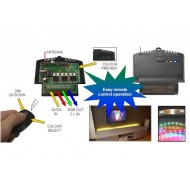 RGB LED DIMMER AND COLOR SELECTOR WITH RF REMOTE