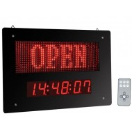 OPEN / CLOSED LED SIGN WITH CLOCK